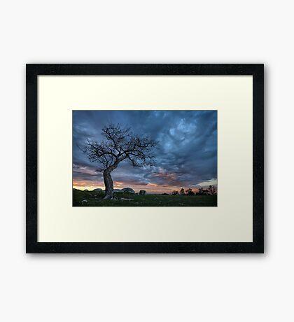 Spooky Sky Framed Print