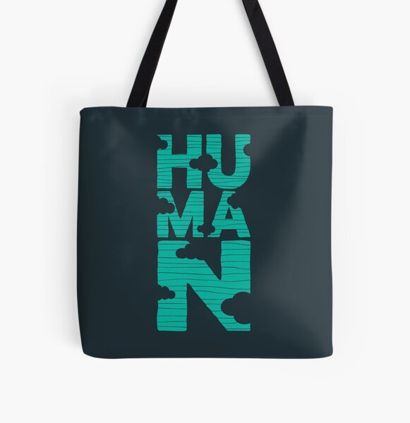 HUMAN (marrs green) All Over Print Tote Bag