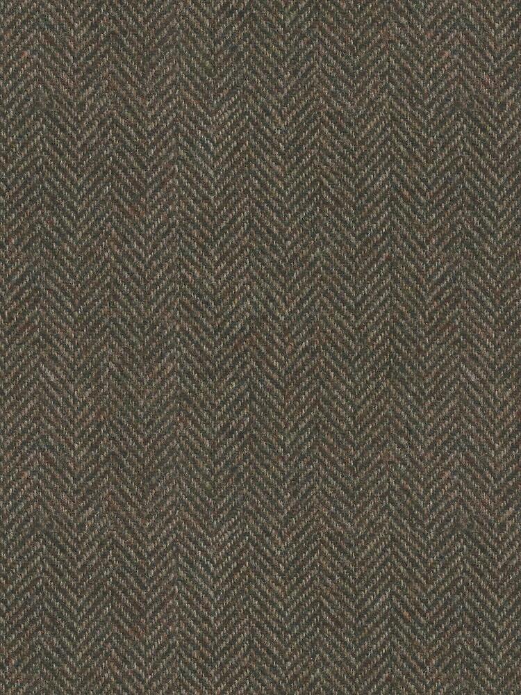 Herringbone Wool Tweed Fabric by junkydotcom