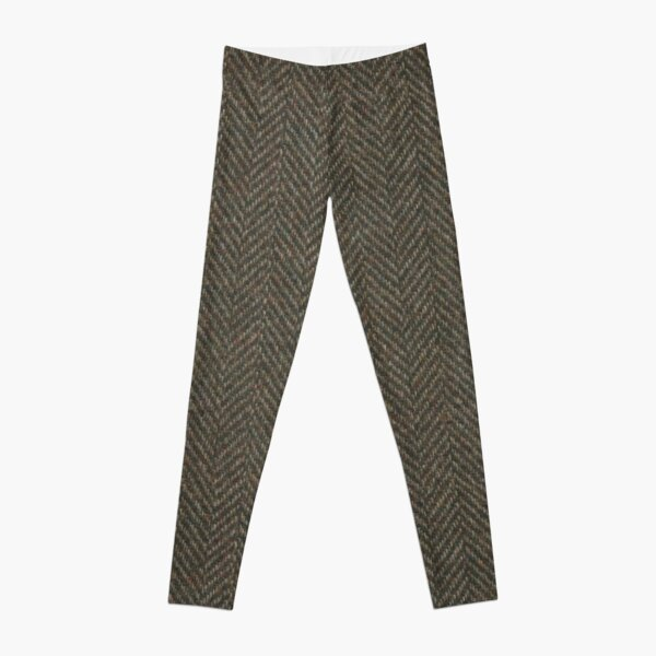 Fischgrätenwolle Tweed Stoff Leggings