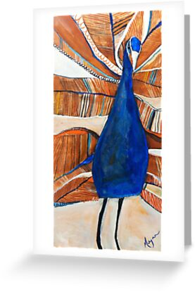 Dancing Peacock by Megan Schliebs
