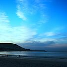 Newquay, Cardigan Bay at Dusk by Andy Green