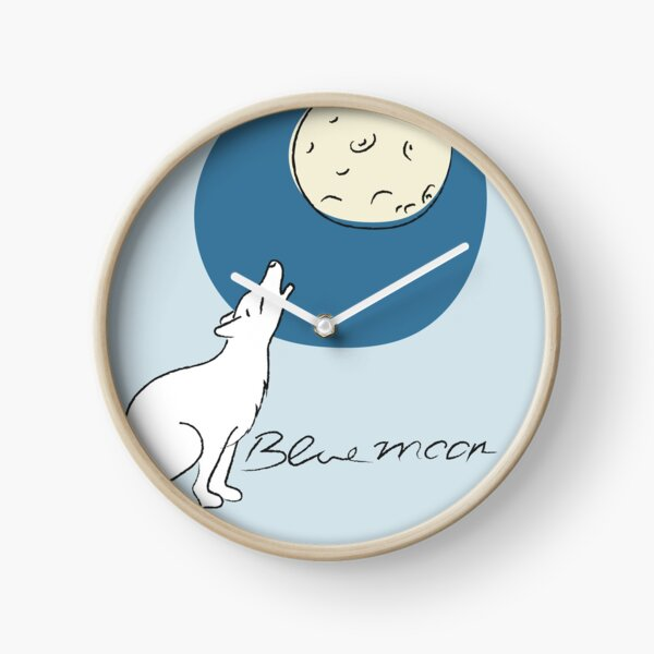 Bluemoon, Wolf howls at the full moon Clock