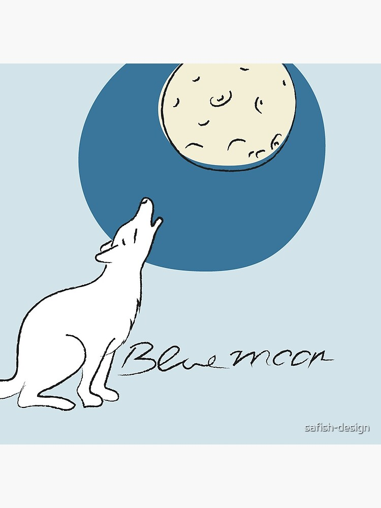 Bluemoon, Wolf howls at the full moon by safish-design