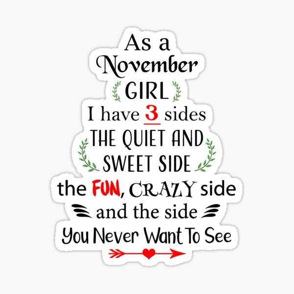 November girl Sticker