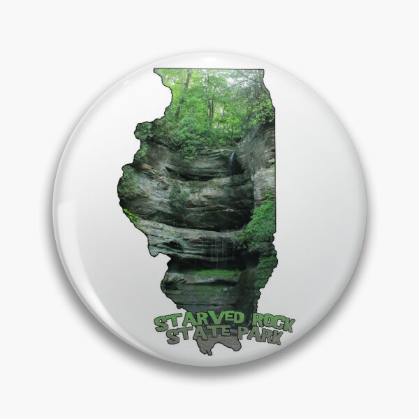 Illinois State Outline (Starved Rock State Park) Pin