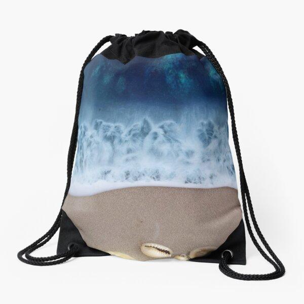 At the beach Drawstring Bag