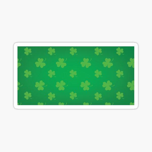 Green clover leaves pattern Sticker