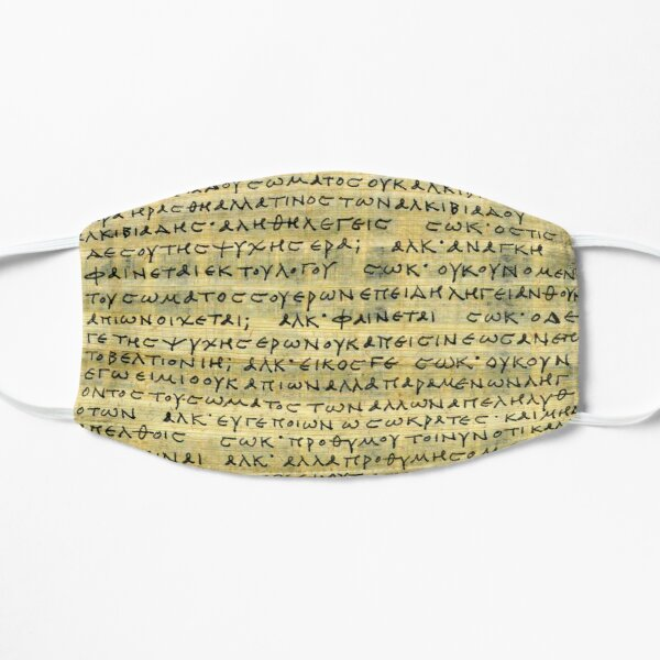 Writings of Socrates Flat Mask