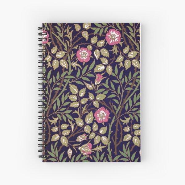 William Morris Sweet Briar Spiral Notebook