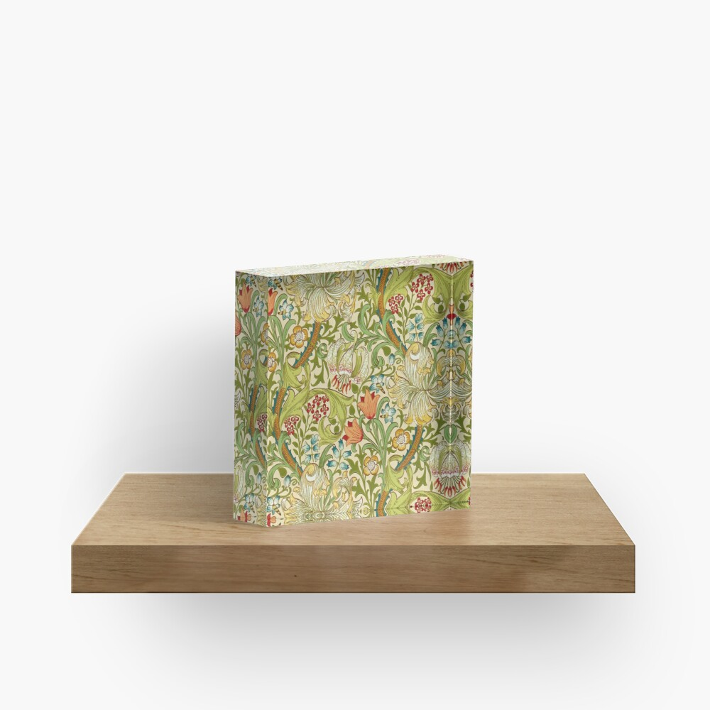 William Morris Golden Lily Acrylic Block