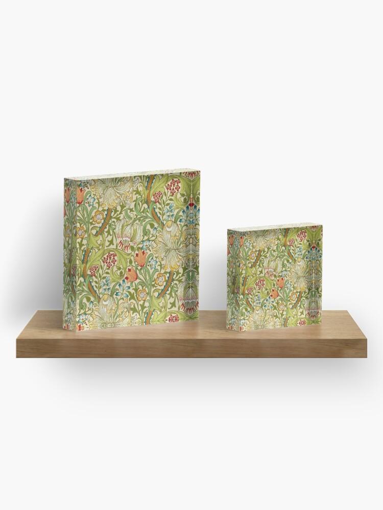Alternate view of William Morris Golden Lily Acrylic Block