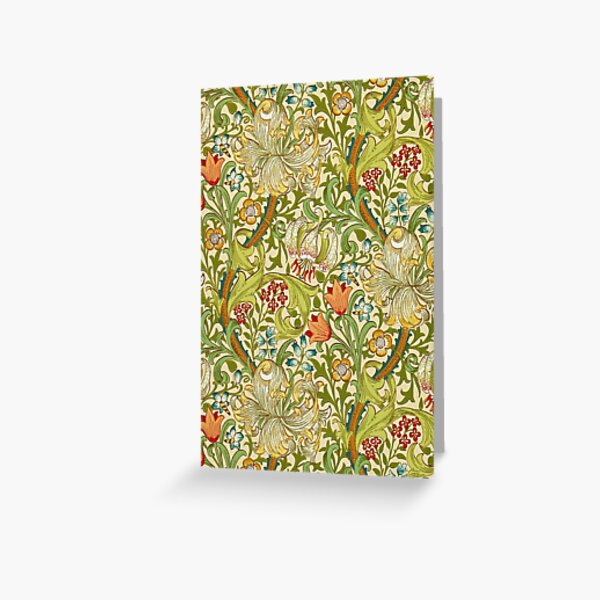 William Morris Golden Lily Greeting Card