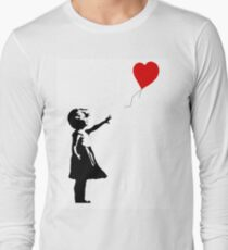 Girl with Balloons Long Sleeve T-Shirt