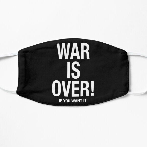 War is Over (dark) Mascarilla plana