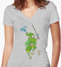 Hylian ancestry Women's Fitted V-Neck T-Shirt