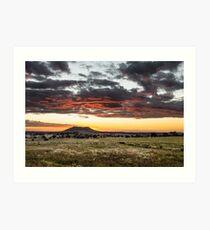 Gowrie Mountain Sunset Art Print