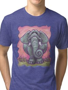 Animal Parade Elephant Tri-blend T-Shirt