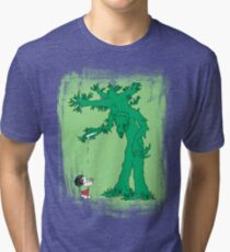 The Giving Treebeard on Lime Tri-blend T-Shirt