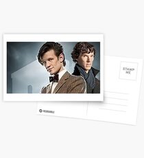 Eleven and Sherlock Postcards