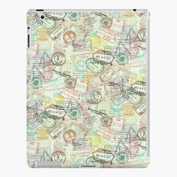 Passport Stamps Pattern iPad Snap Case