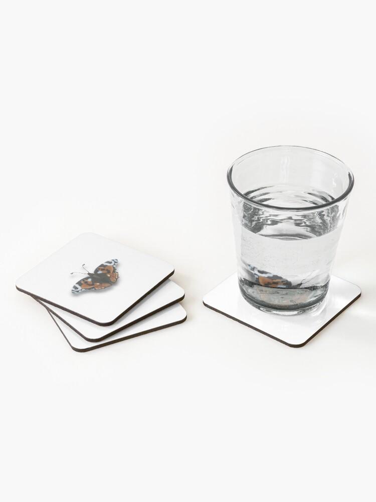 Alternate view of realistic butterfly Coasters (Set of 4)