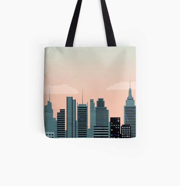 New York Travel Poster Allover-Print Tote Bag