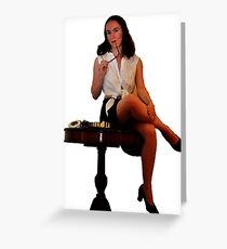 Geeky Pin-Up: Chess Greeting Card