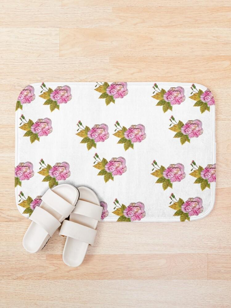 Alternate view of Pink Roses Bath Mat