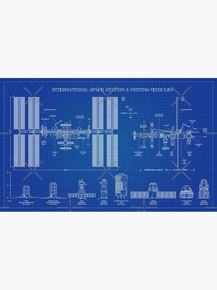 International Space Station (ISS) & Visiting Vehicles (Blueprint) by BGALAXY