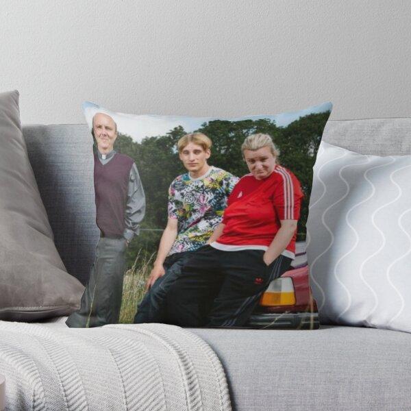 the vicar, kerry and kurtan Throw Pillow