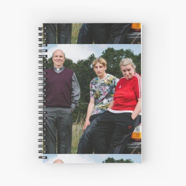 the vicar, kerry and kurtan Spiral Notebook