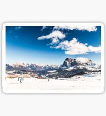 Italian Dolomiti ready for ski season Sticker