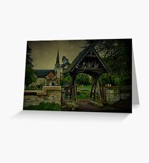 St Andrews Church Gatton and Lychgate Greeting Card