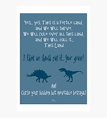 curse your sudden but inevitable betrayal, firefly, blue Photographic Print