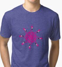 Flamingo Psychedelic Tri-blend T-Shirt