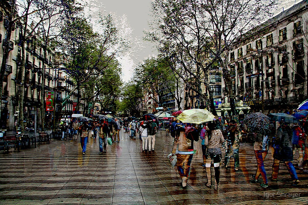 Memories of Spain 10 - Barcelona Las Ramblas by Igor Shrayer
