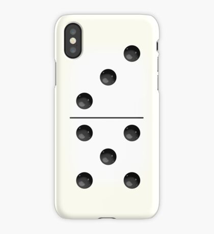 Domino (White) iPhone Case