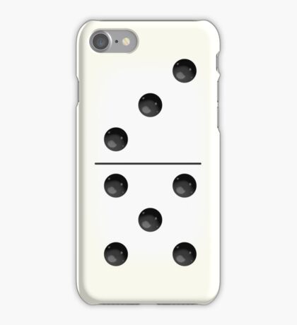 Domino (White) iPhone Case/Skin