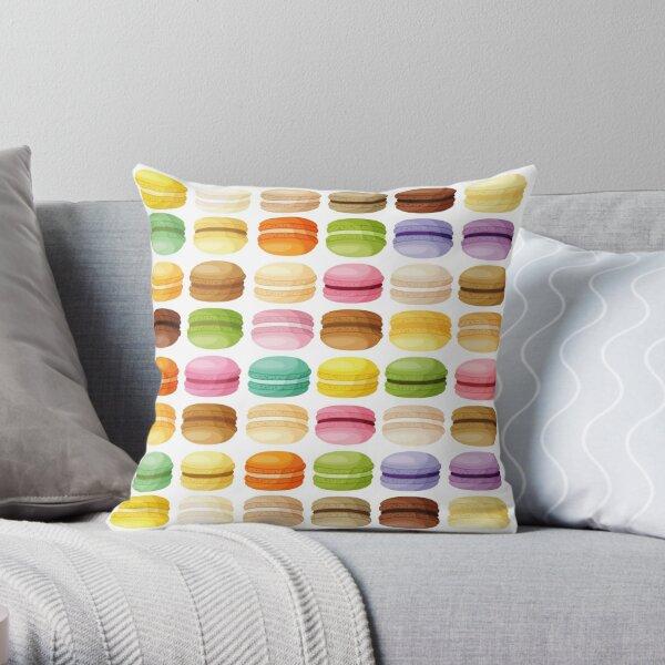 Macaron Pattern Throw Pillow