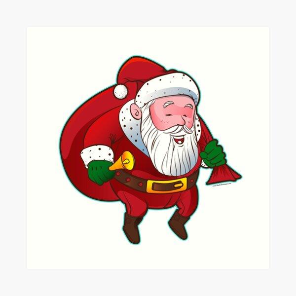 Cartoon Santa Claus Art Print