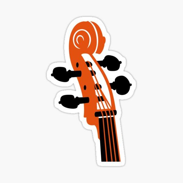 Cello Scroll VRS2 Sticker