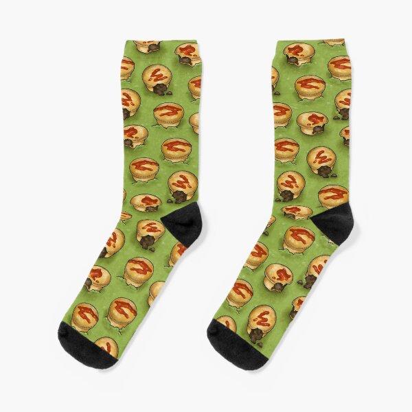 Aussie Meat Pie Floater Socks
