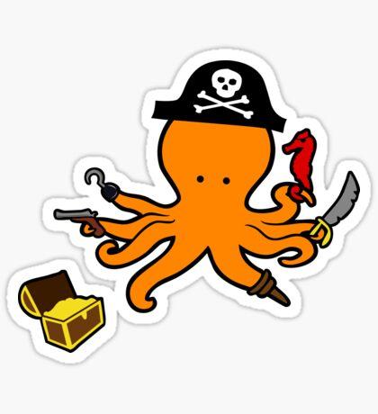 Pirate Octopus Sticker