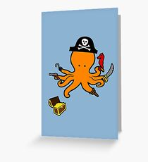 Pirate Octopus Greeting Card