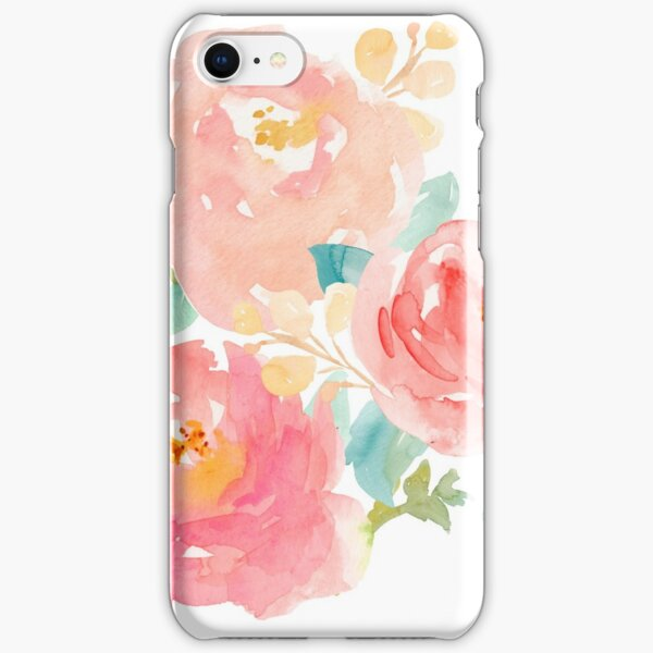 Peonies Watercolor Bouquet iPhone Snap Case