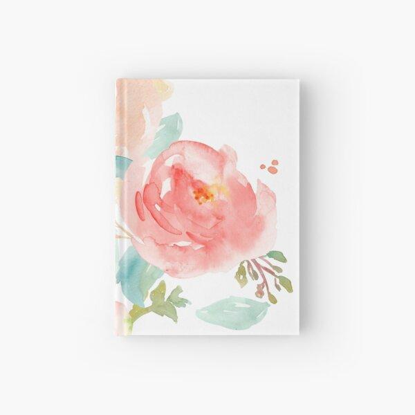Bouquet aquarelle pivoines Carnet cartonné