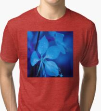 Mom and her little one matching Blue Beauty QTees Tri-blend T-Shirt