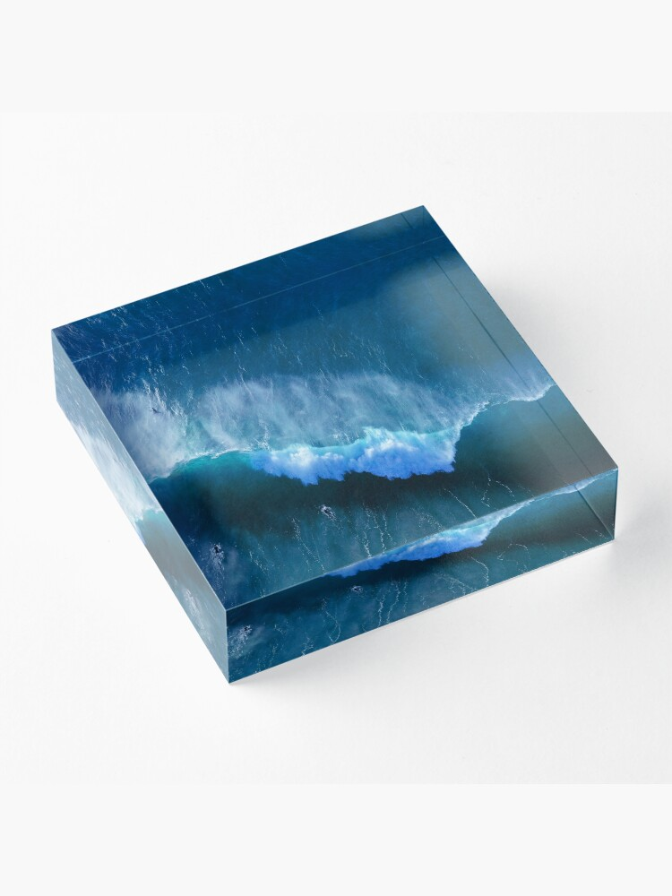 Alternate view of Surfing in Paradise Acrylic Block