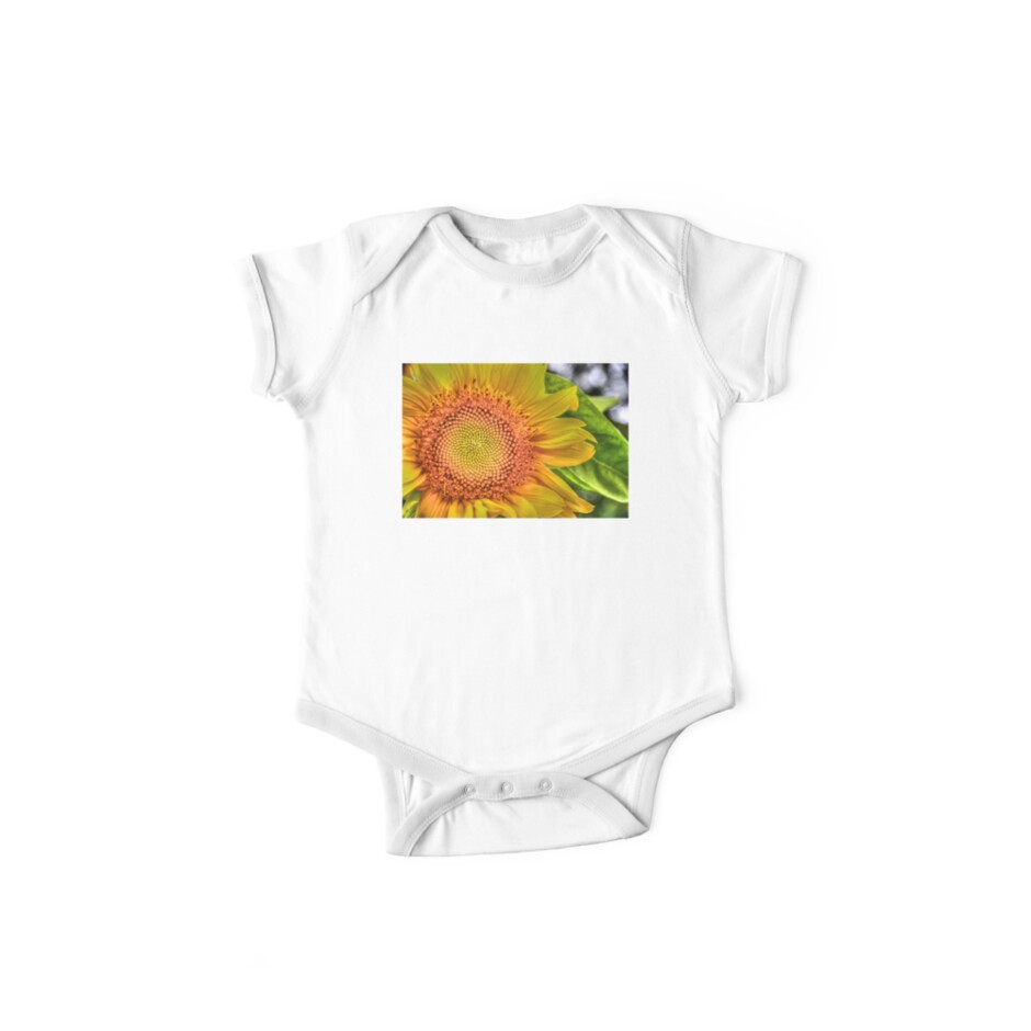 Mom and Baby matching Sunflower QTees by Jeff Johannsen